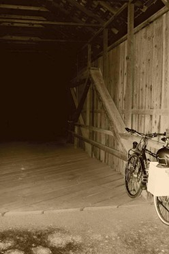 a stealthy overnight at Lost Creek covered bridge - circa 1919...the bridge not the photo